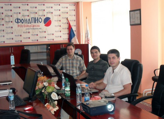 (2011) Work meeting at Fund for Pension and Disability Insurance of Republic of Srpska in Bijeljina, Republic of Srpska