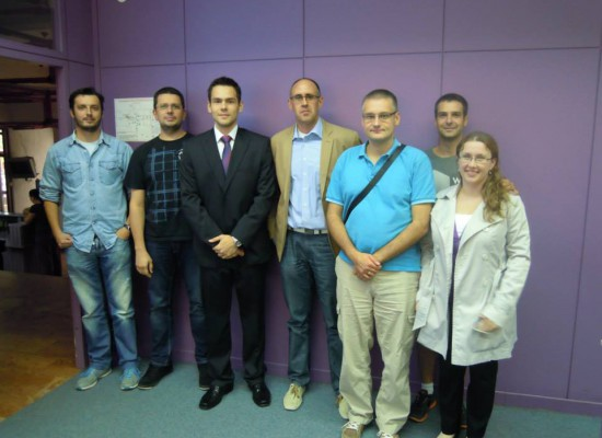 (2013) Supporting our trainee on his graduation day, Novi Sad, Serbia